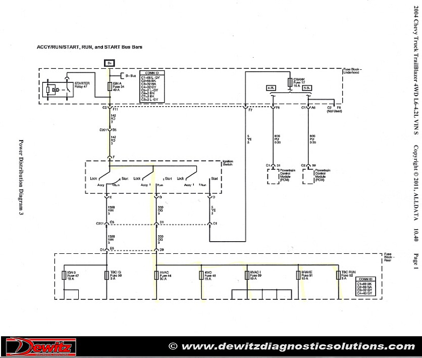 2005 gm ignition switch wiring diagram intermittent electrical issue 2004 chevrolet trailblazer  2004 chevrolet trailblazer