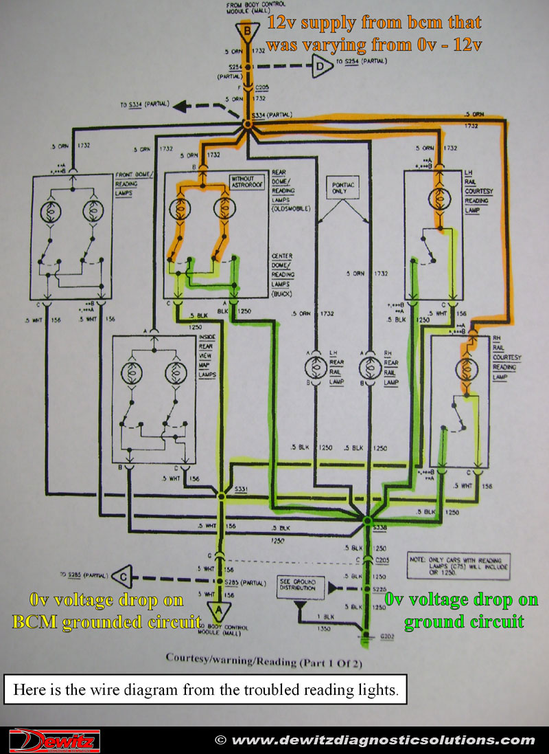 Interior Electrical Issues 1997 Buick Lesabre Dewitz Diagnostic Wiring Diagram Along With 1990 Dodge Ram W250 Fuse Box Lighting Wire