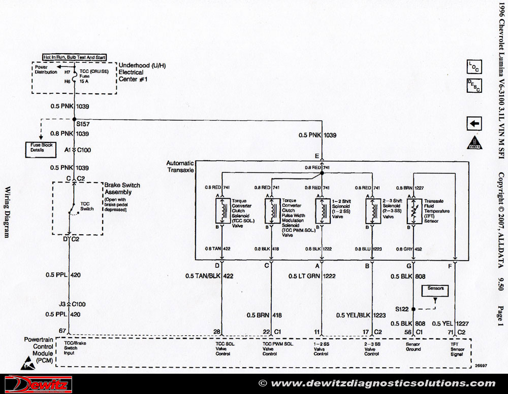 Diagram Schematic Transmission Gmc Sonoma 2 2 Engine