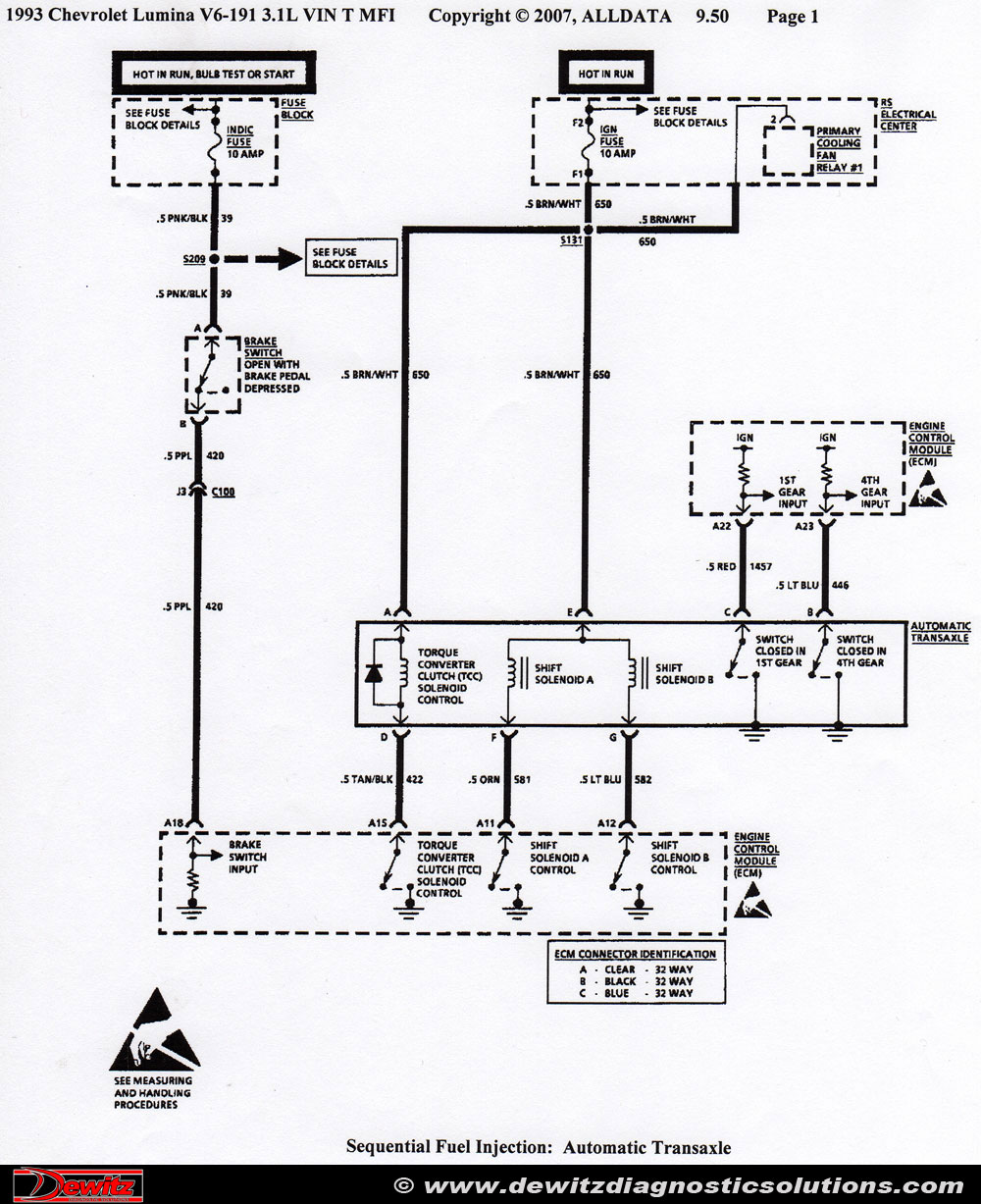 Electrical Wiring Diagrams 1992 Chevy Lumina Library Diagram Truck Chevrolet 4t60e Transmission Shifting Issues Power Window