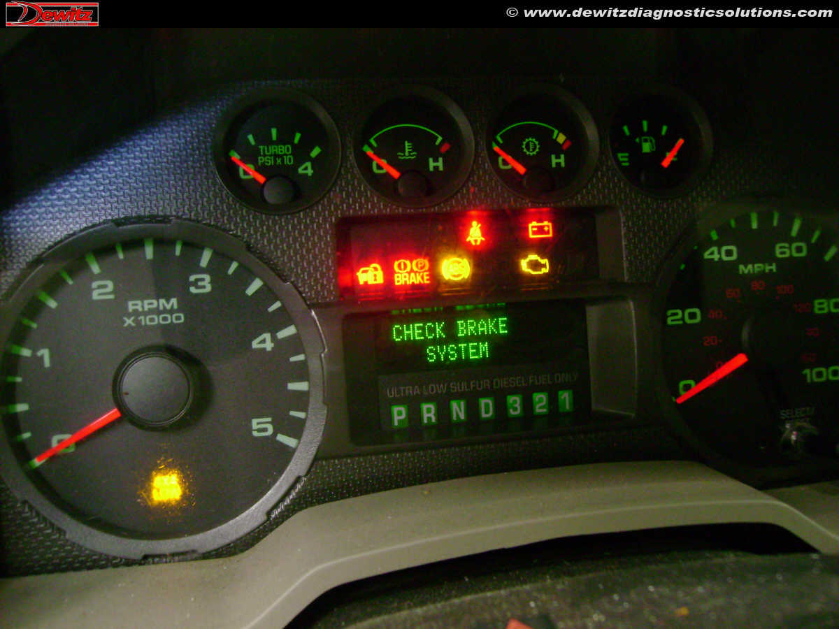 Intermittent No Start Communication Flashing Theft Light 2010 2008 Ford F 250 Abs Wiring Diagram F250 Instrument Cluster Warning Lights Check Brake System And